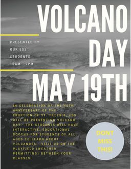 Volcano Day at SVEC- May 19th!