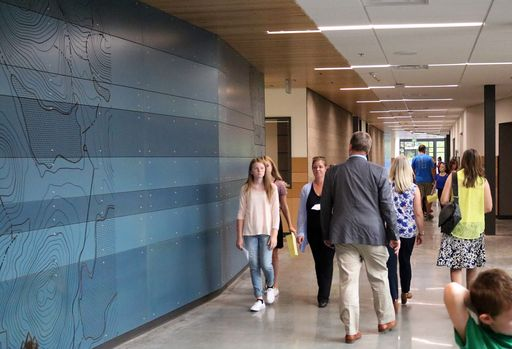 Park Place Middle is new, decked in blue, and state-of-the-art