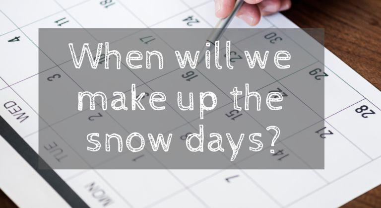 When Will We Make up the Snow Days?