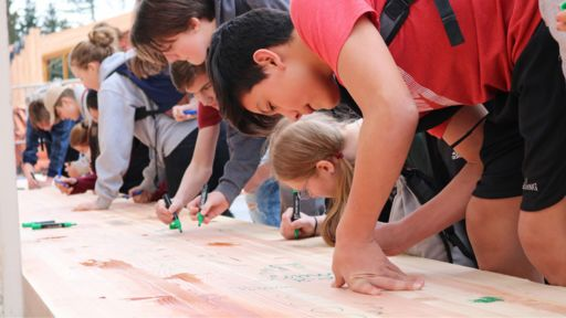Hidden River Students Leave a Mark on New Wing