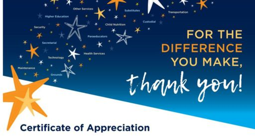 A Big Thank You to our Education Support Professionals