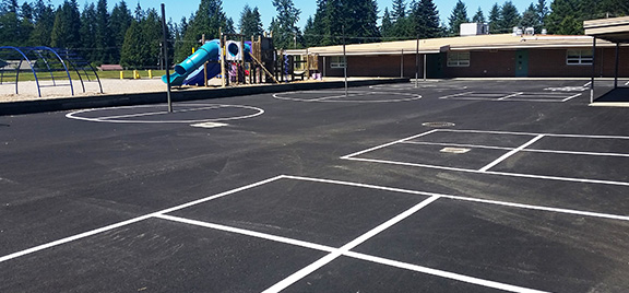 Maltby Elementary playground resurface